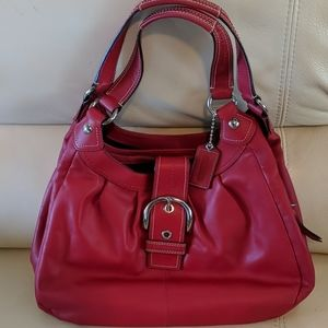 Gorgeous red hobo genuine Coach purse perfect
